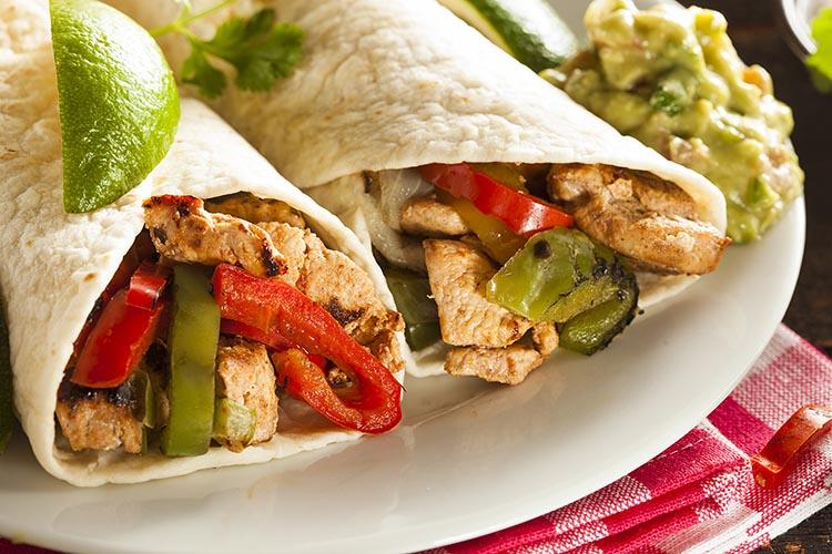 Fajitas mexicanas de pollo