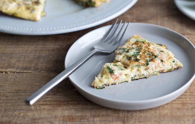 Tortilla de judías verdes y salmón