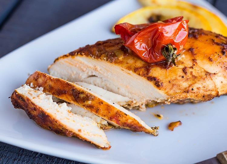 Pechuga de pollo a la plancha con curry