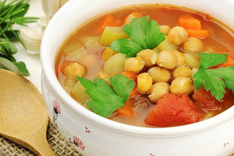 Sopa de cocido vegetal