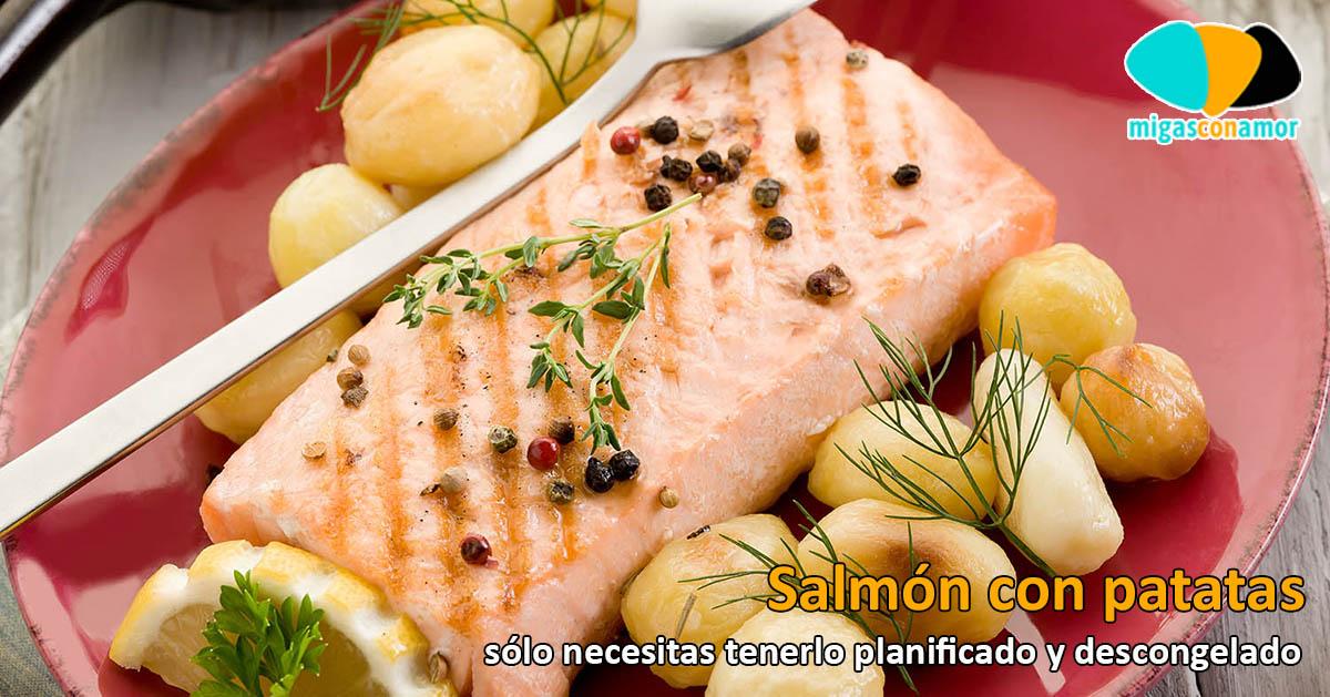 Salmón al horno con patata