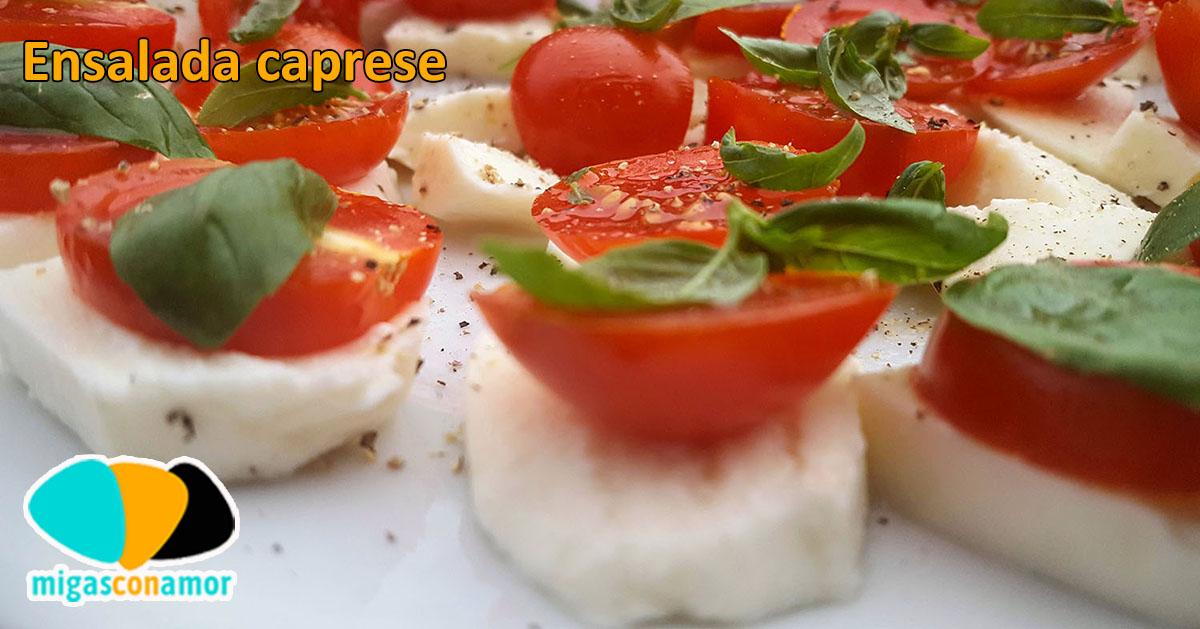 Ensalada caprese - mozzarella y tomate